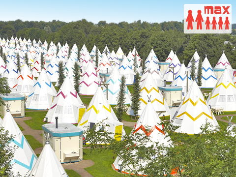 6-persoons tent (max 2 volw.) Wigwam