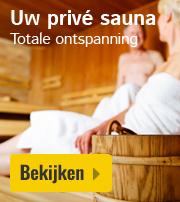 Huisje met prive sauna