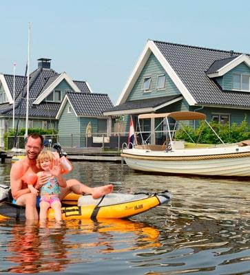 Huisje met boot huren