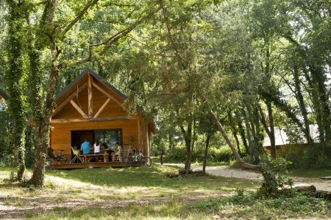 6-persoons stacaravan/chalet Cabane