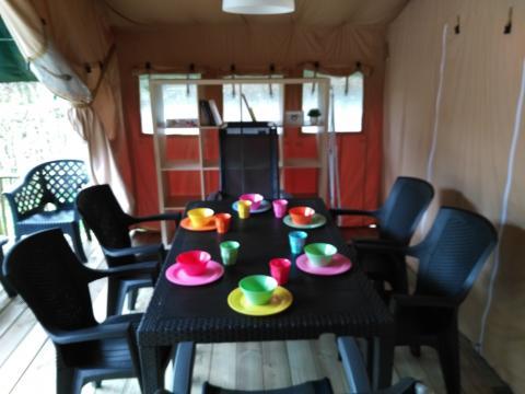 6-persoons tent Safaritent La Rochette