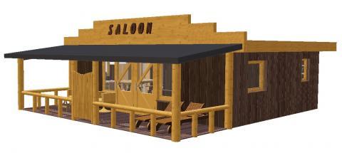 7-persoons stacaravan/chalet Saloon Lodge