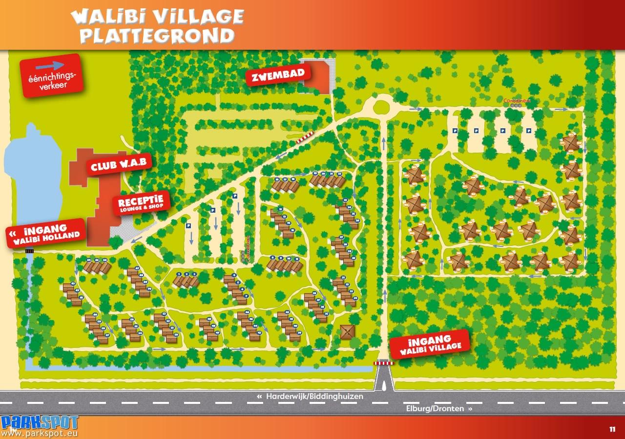 Plattegrond Walibi Village