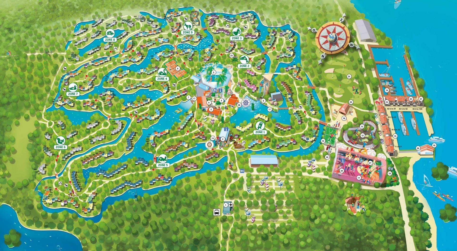 Center parcs de eemhof kaart plattegrond de beste for Port zelande map