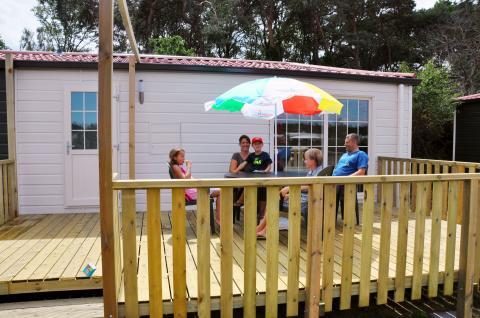 4-persoons stacaravan/chalet Campinghotel