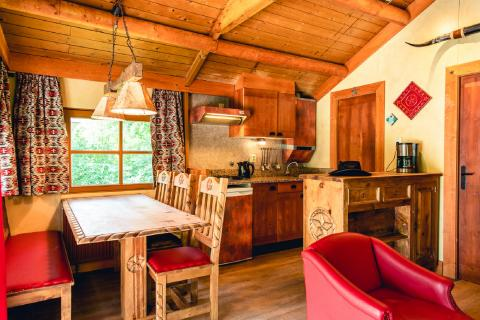 6-persoons stacaravan/chalet (max. 2 adults 4 children) Cowboy Cottage