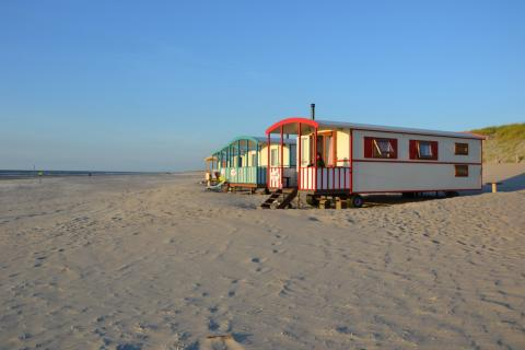 4-persoons stacaravan/chalet Pipowagen on the Beach