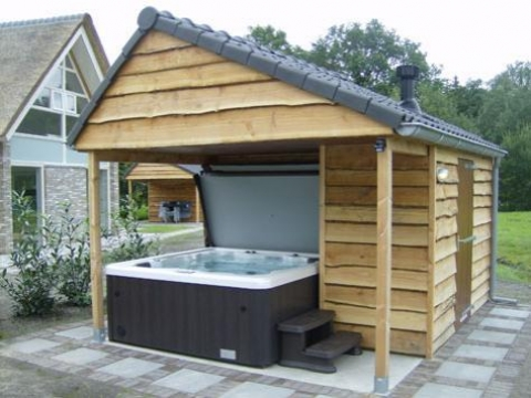 6-persoons bungalow Markegaerde Wellness Jacuzzi